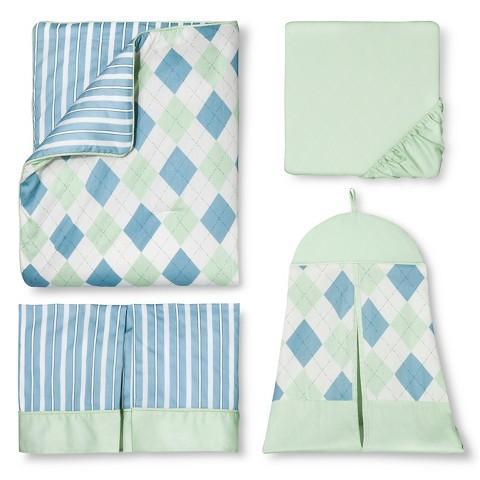 Sweet Jojo Designs 11pc Argyle Crib Set - Green
