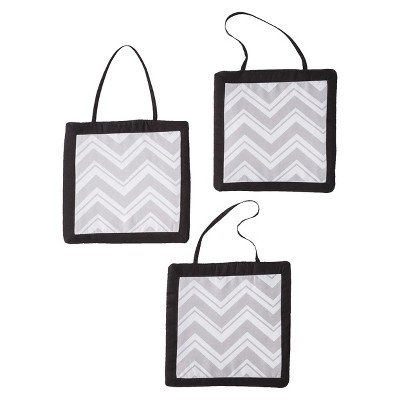 Sweet Jojo Designs Zig Zag Wall Hangings - Gray
