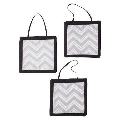 Sweet Jojo Designs Zig Zag Wall Hangings - Gray