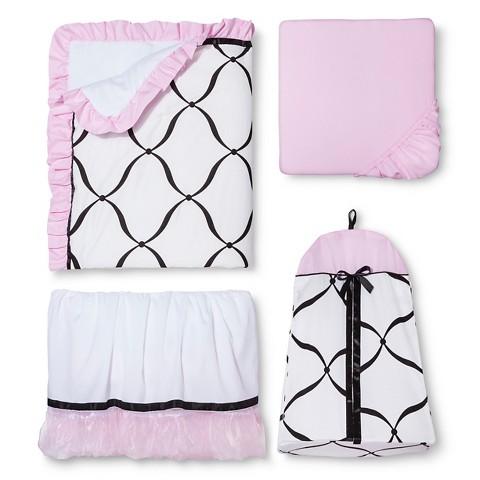 Sweet Jojo Designs 11pac Princess Crib Set - Pink