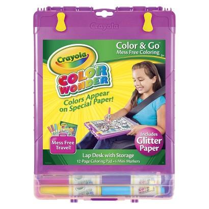 Crayola Color Wonder Glitter Color and Go Desk