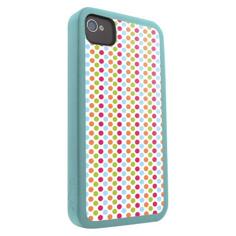 Zagg iFrogz Mix Cell Phone Case for iPhone4/4S - Multicolor (IP4MIX-DOT)