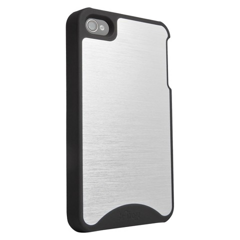 Zagg iFrogz Fusion Cell Phone Case for iPhone4/4S - Silver (IP4FS-MTBK)