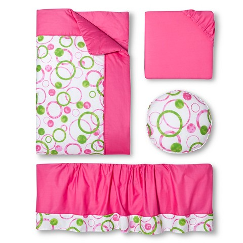 Sweet Jojo Designs 11pc Circles Crib Set - Pink