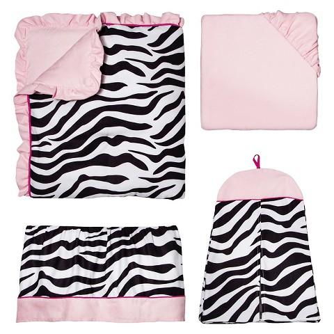 Sweet Jojo Designs 11pc Zebra Crib Set - Pink