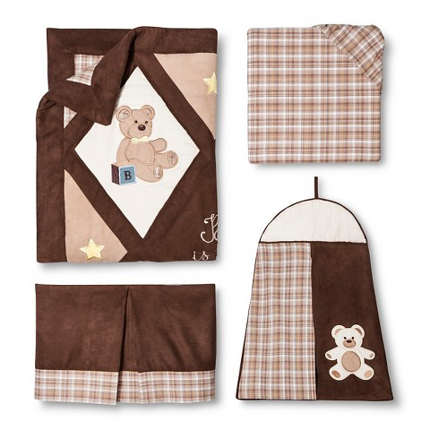 Sweet Jojo Designs 11pc Teddy Bear Crib Set - Brown