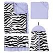 Sweet Jojo Designs 11pc Zebra Crib Set - Purple