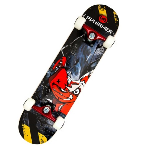 """Punisher Skateboards Teddy Complete Skateboard - Red/Blue (31"""")"""