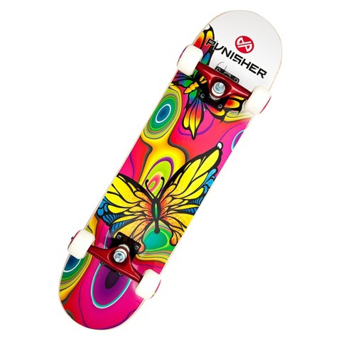 "Punisher Skateboards Butterfly Jive Complete Skateboard (31"")"