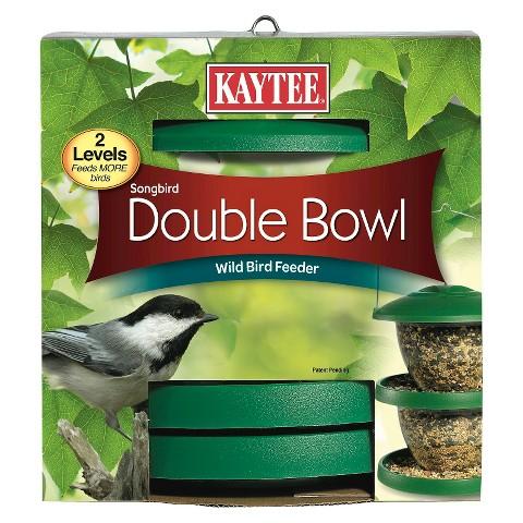 Kaytee Songbird Double Bowl Wild Bird Feeder - 2 Count