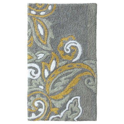 "Threshold™ Textured Paisley Bath Rug (34x20"")"