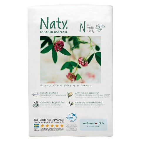 Nature Babycare Eco-Diapers - Newborn (26 Count)