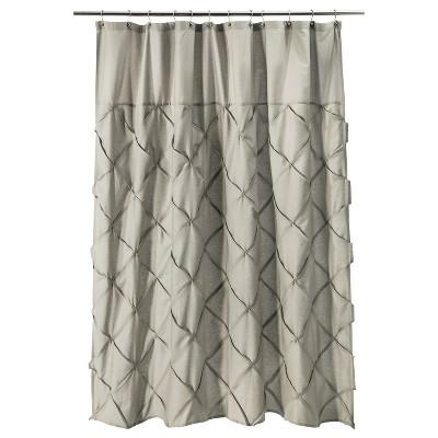 Threshold™ Pinch Pleat Shower Curtain - Gray Marble