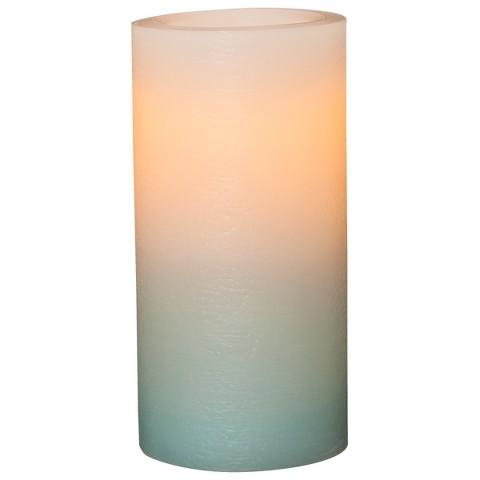 Threshold™ 3x6 Wax Pillar with Rustic Finish - Blue