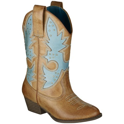 Brown cowgirl boots from target