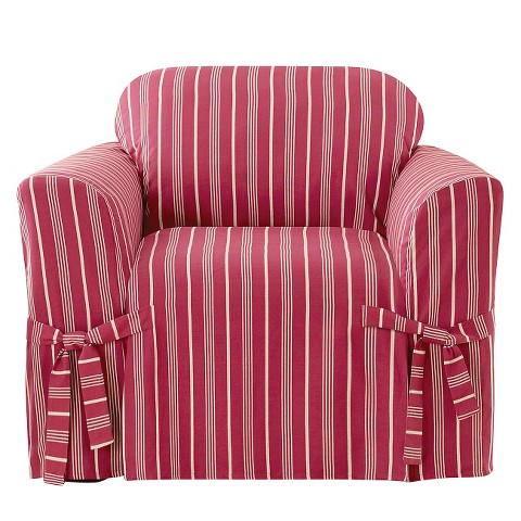 Grainsack Stripe Chair Slipcover - Sure Fit