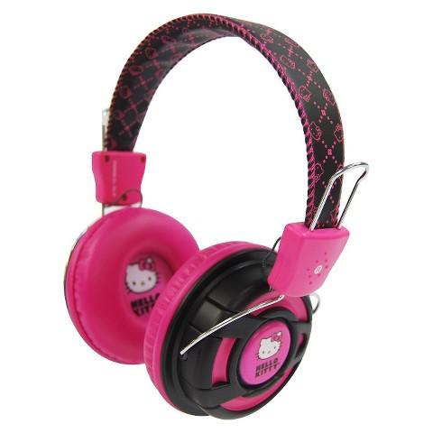 Hello Kitty Studio Headphones - Pink/Black (KT2091PB)