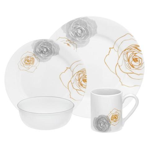 Corelle 16 Piece Round Dinnerware Set - Roses