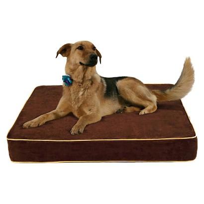 Buddy Beds Memory Foam Dog Bed Log Cabin - Brown