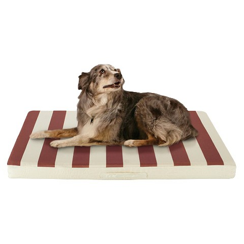 Buddy Beds Outdoor Dog Bed - Beige and Tan Stripes (Large)