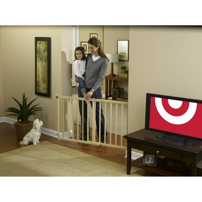 GuardMaster® III 480 Tall Extra Wide Wood Slat Swing Baby and Pet Gate