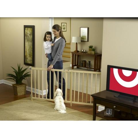 GuardMaster® III 490 Tall Super Wide Wood Slat Swing Baby and Pet Gate