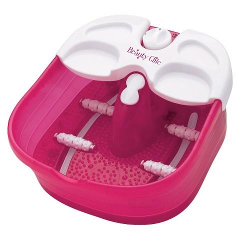 Beauty Chic Massaging Foot Spa - Pink/White