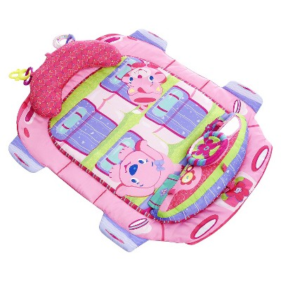Bright Starts Tummy Cruiser Prop and Play Mat - Pretty in Pink