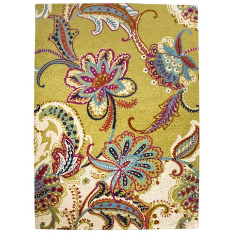 Boho Boutique™ Floral Wool Area Rug