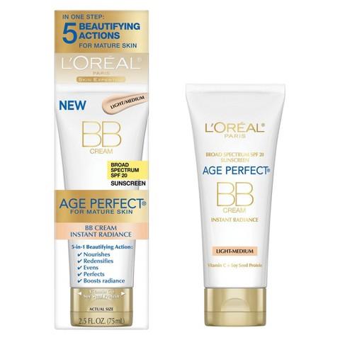L'Oreal® Paris Age Perfect Instant Radiance BB Cream SPF 20 - 2.5 fl  oz