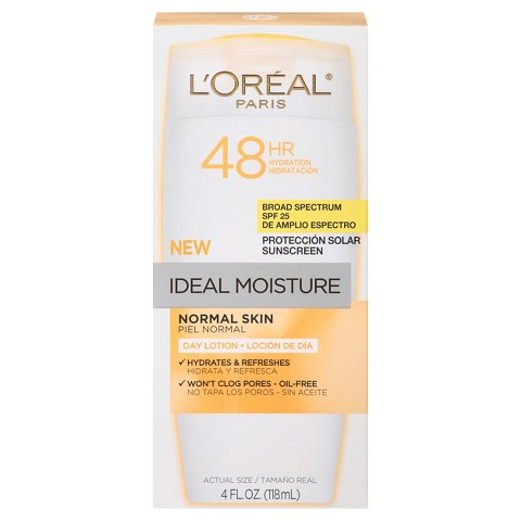 L'Oreal® Paris Ideal Moisture Day Lotion For Normal Skin SPF 25 - 4 fl  oz