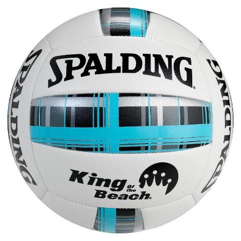 Spalding Blue Plaid Beach Volleyball