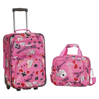 Rockland Rio 2-pc. Carry-On Luggage Set - Pink Vegas