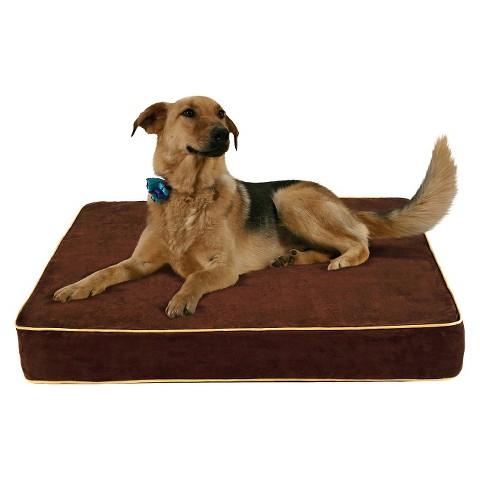 Buddy Beds Memory Foam Dog Bed Log Cabin - Brown