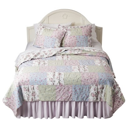 Simply Shabby Chic® Ditsy Patchwork Quilt Collection - Pink
