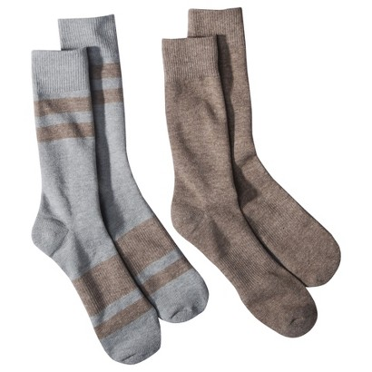 dENiZEN® from the Levi's® brand Men's 2pk Twin Stripe Crew Socks - Assorted Colors