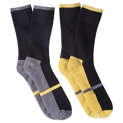 dENiZEN® from the Levi's® brand Men's 2pk Contrast Sole Crew Socks - Assorted Colors