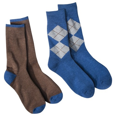 dENiZEN¨ from the Levi's¨ brand Men's  2pk  Argyle Crew Socks - Assorted Colors
