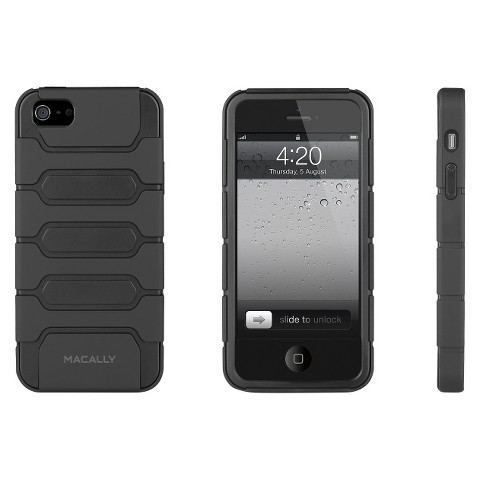 Macally Protective Holster Case with Belt for iPhone®5 - Black (Tank5B)