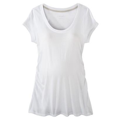 Maternity Short-Sleeve Side-Ruched Basic Tee-Liz Lange® for Target®