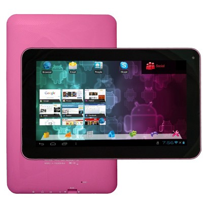 "Visual Land Connect 9"" Android Tablet (VL-109-8GB-PNK) with 8GB Internal Storage, 512MB Memory - Pink"