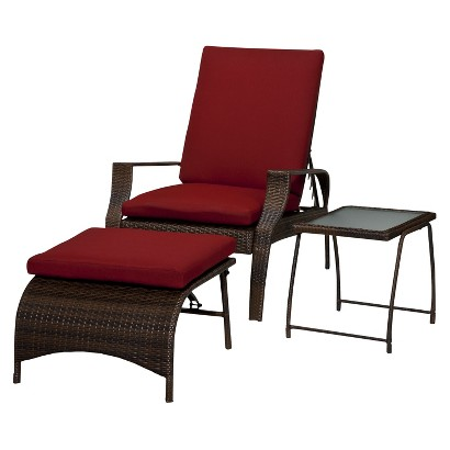 Threshold™ Rolston 3-Piece Wicker Patio Lounge Furniture Set
