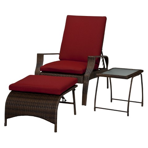 Threshold™ Rolston 3 Piece Wicker Patio Lounge F Tar