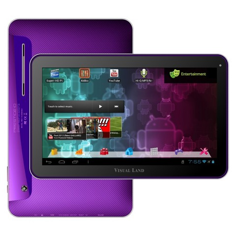 "Visual Land Prestige 10"" Android Tablet (ME-110-16GB-PRP) with 16GB Internal Storage, 1GB Memory - Purple"