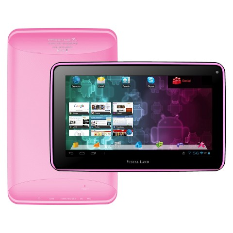 "Visual Land Prestige 7"" Google Certified Android 4.1 Tablet - Pink (ME-107-L-8GB-PNK)"