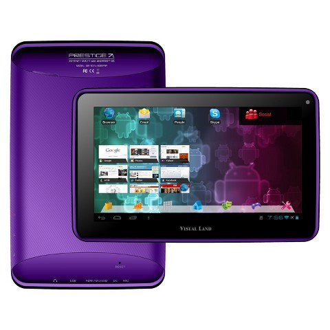 "Visual Land Prestige 7"" Google Certified Android 4.1 Tablet - Purple (ME107-L-8GB-PRP)"