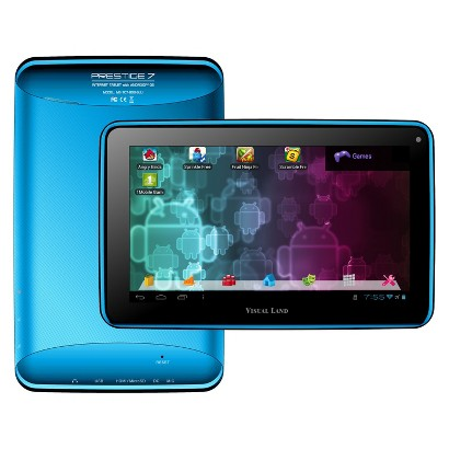 "Visual Land Prestige 7"" Google Certified Android 4.1 Tablet - Blue (ME-107-L-8GB-BLU)"