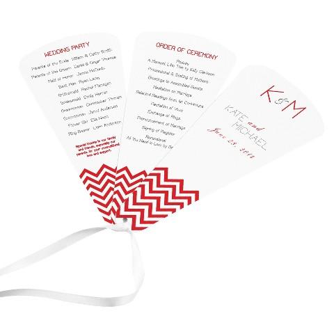 DIY 3-Piece Fan Wedding Program Kit