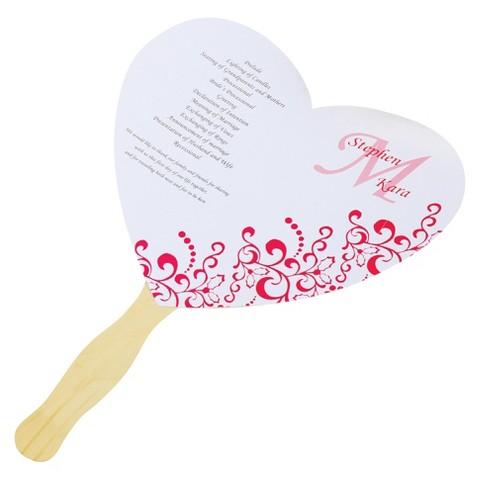DIY Heart Fan Wedding Program Paper Kit Target