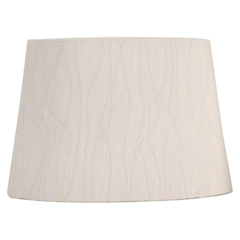Threshold™ Embroidered Modified Drum Lamp Shade - Cream Small